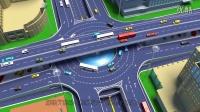十字路环形立交桥3D