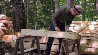 Our timber frame cabin Part II- Half-lap rafter collar ties