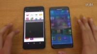 三星 Galaxy Note 7 vs Nexus 6P 官方Android 7牛轧糖- 速度对比 -评测视频!