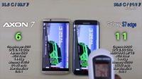 中兴 Axon 7 vs 三星 Galaxy S7 Edge - 速度、发热、耗电对比评测!