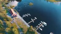 航拍 挪威 夏天 海港湾 风光