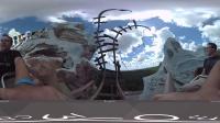 VR全景视频 恐怖过山车连环境都这么吓人