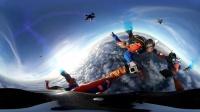 VR全景视频 超美海岸线上空极限跳伞震撼又美丽