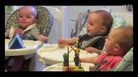 可爱的三胞胎   小宝宝能偶分辨善意恶意  这是动物的天生的