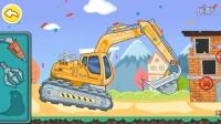 宝宝巴士614 挖掘机视频表演宝宝巴士挖士机动画片汽车总动员奇趣玩具奇趣蛋小猪佩奇