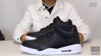 Air Jordan 3 Retro 'Cyber Monday' AJ3 黑白 实物细节近赏