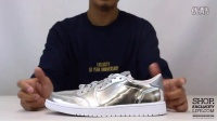 Air Jordan 1 Low Retro Pinnacle 'Metallic Silver' 实物细节近赏