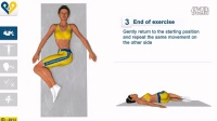 Lumbar stretch with knees rotation