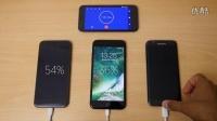 Pixel XL vs iPhone 7 Plus vs Galaxy S7 Edge - 电池充电速度测试!@成近田