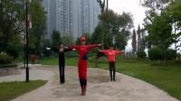 乐山暖阳广场健身操乐山暖阳广场健身操《河口轻舞飞扬健身操第七套》第八节三人版