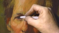 一个老外的画画教程视频(色粉)