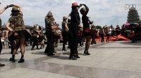 张穆组合西安大雁塔表演水兵舞二套《远处的灯火》