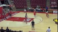 红鸟篮球队内训教学 3分线追防练习