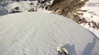 与雪崩赛跑!第一视角展现悬崖跳伞滑雪