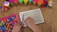 制作英文字母Cc - 儿童蘑菇钉组合拼插板拼图宝宝益智
