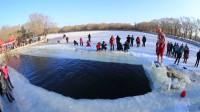 沈阳北陵公园冬泳人风采