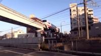 很先进的日本单轨列车,卡通涂装,大人小孩都很喜欢!