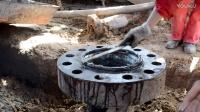 防喷器安装程序 简易井口 底法兰