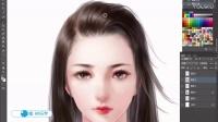 古风主讲老师案例-古风女性头发的画法 (1)
