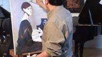 油画教程 钢琴姑娘 视频教学 第二集