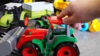 真是儿童挖掘机游戏视频之儿童挖掘机工作视频游戏组装游戏