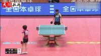 平野美宇vs石川佳纯【2017全日本乒乓球大赛】天才少女