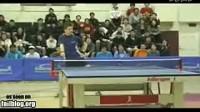 乒乓球选手最幸福的一刻