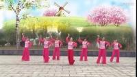 艳桃广场舞《语花蝶》团队版