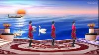 安阳金东姐妹广场舞《红红的日子》编舞:青春飞舞,演示蓝天白云