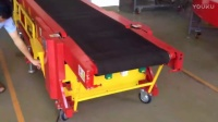 Loading and Unloading conveyor-unload-联合爬坡机视频-水平状态下输送-卸货
