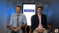 Interview Justin Timberlake Andrew Garfield on The Social Network