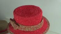 闪耀吧 棉草拉菲和亮片纱结合的红棕配搭礼帽