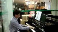 钢琴OK老师弹奏我像雪花天上来