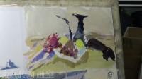 朱传奇画室 140814张德静色彩静物示范(水果、盘子、壶)_高清