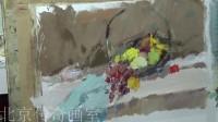 朱传奇画室 140807张德静色彩静物示范视频(篮子、水果)_高清