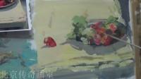 朱传奇画室 140819张德静色彩静物示范(水果、盘子、蔬菜)_高清