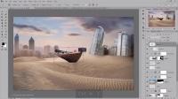 场景合成,合成荒废的沙漠之城场景实例www.16xx8.com