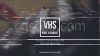 视频素材:15组信号干扰画面破损特效素材 VHS Noise & Damage 15 pack Grunge