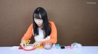DIY食玩之仙贝的制作 很脆很好吃哦 新魔力玩具学校