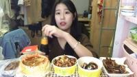 【第三十一期】吃播 街边夜宵来一发 鱿鱼炒年糕 温州瘦肉丸 章鱼小丸子 土豆豆腐年糕
