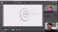 krita绘制箭射中靶心的小动画