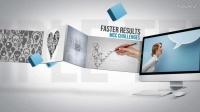 APP应用程序商业网站推广营销演示 企业网络营销电子商务电商产品宣传展示介绍动画AE模