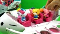 迪士尼玩具 大型载客飞机 hello kitty 小猪佩奇坐飞机
