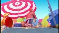 难得一家人阳光海滩浴,却偶遇苍蝇来调戏!!!