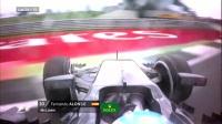 惊险的瞬间 三位F1车手赛车失控对比