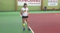 网球技术训练-单腿发球训练