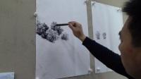 【画技教学】刘鹏凯彩墨山水丛树的画法