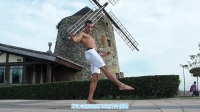Capoeira卡波拉动作独立教学 - 540度旋风踢 + Martelo Rodado【中文字幕】