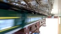 新入段的N27 SS9G牵引绿皮试运行