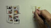 扑克牌像被施魔法一样被绘制出来!